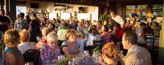 Sam Choy's Kai Lanai was filled to capacity for the Rancher's Dinner.